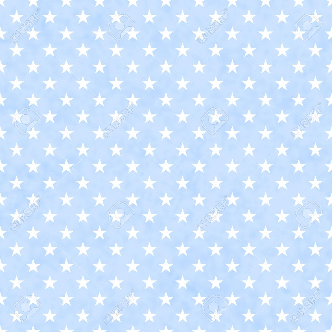 シームレスな青と白の星柄のテクスチャ背景 の写真素材 画像素材