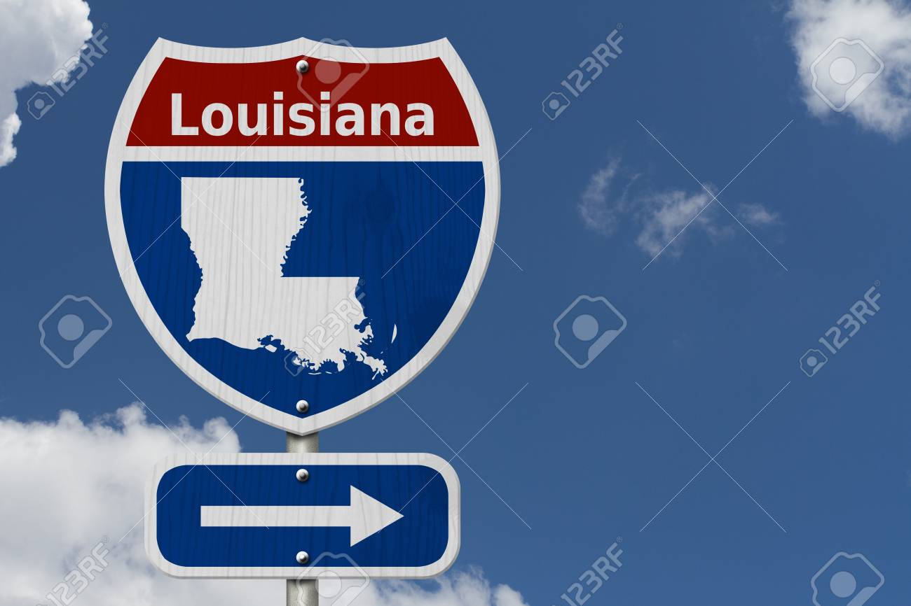 Interstate Map Of Louisiana.Road Trip To Louisiana Red White And Blue Interstate Highway