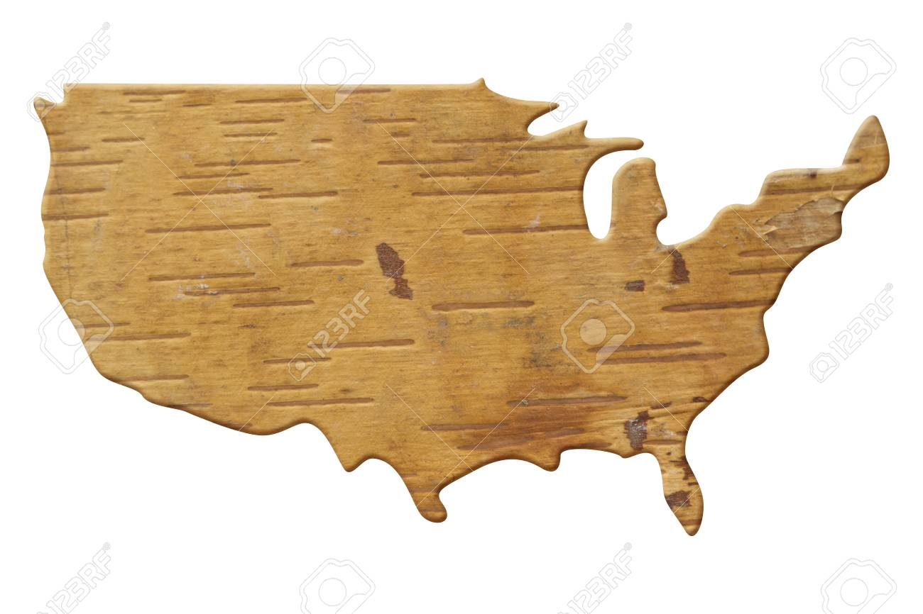 Wood United States Map.Map To The Country Usa In Wood United States Of America Map Stock