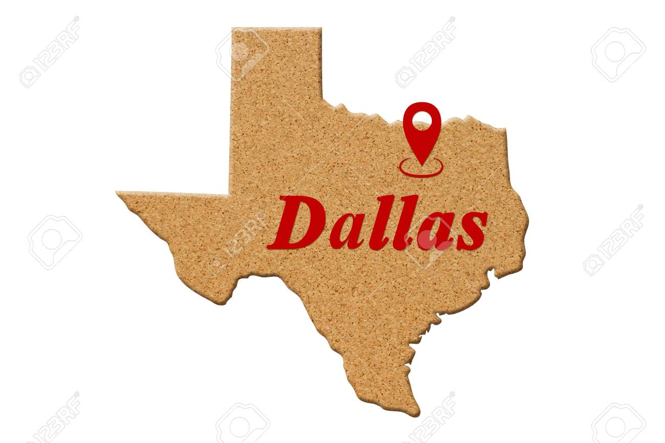 Map Of Texas United States.Map Of The State Of Texas United States Of America Made Of Cork