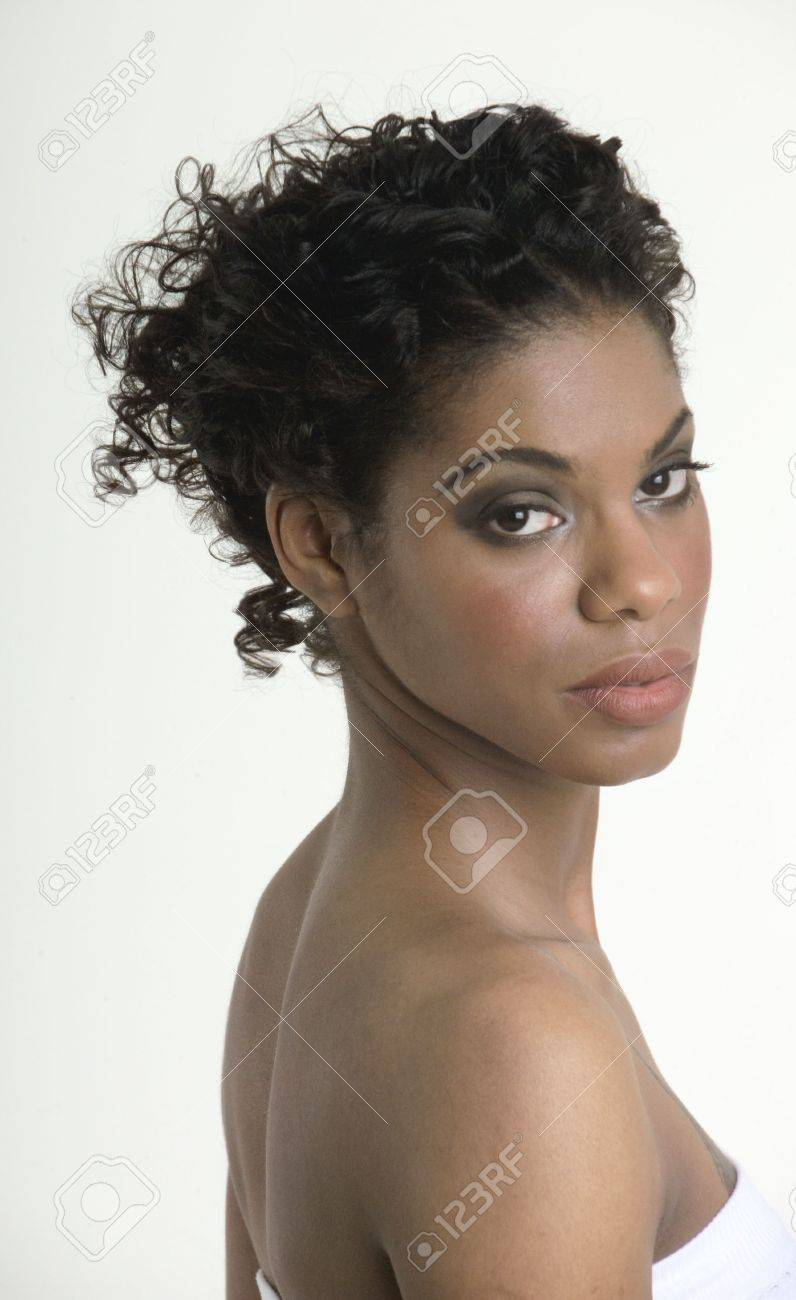 Peaceful black woman in the spa Stock Photo - 275001