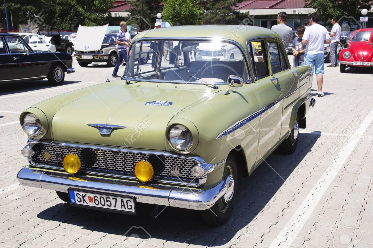 SKOPJE MACEDONIA JUNE 13 2015: Oldtimers Classic Cars Presented ...
