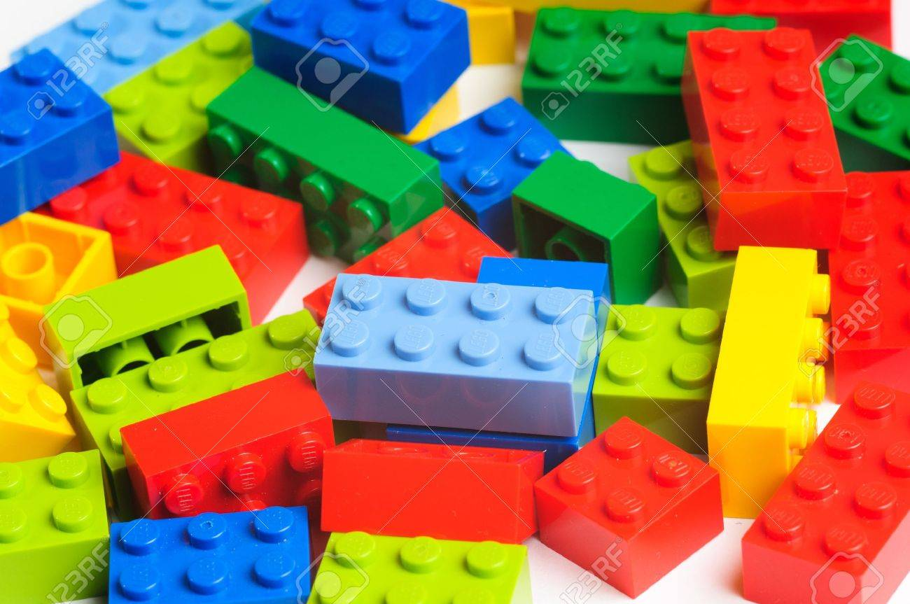 Lego blocks. The Lego toys were originally designed in the 1940s in Denmark and have achieved an international appeal. Stock Photo - 16532264