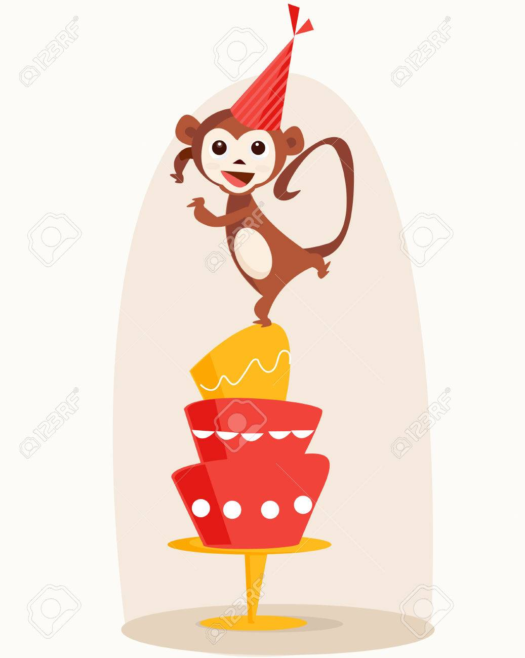 Happy Birthday Dancing Card Dancing Monkey Birthday Card