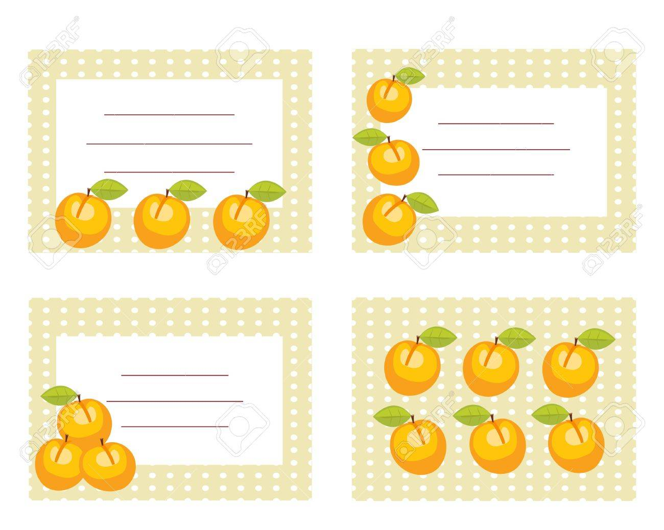 Fruit labels with peaches illustration Stock Vector - 6798214