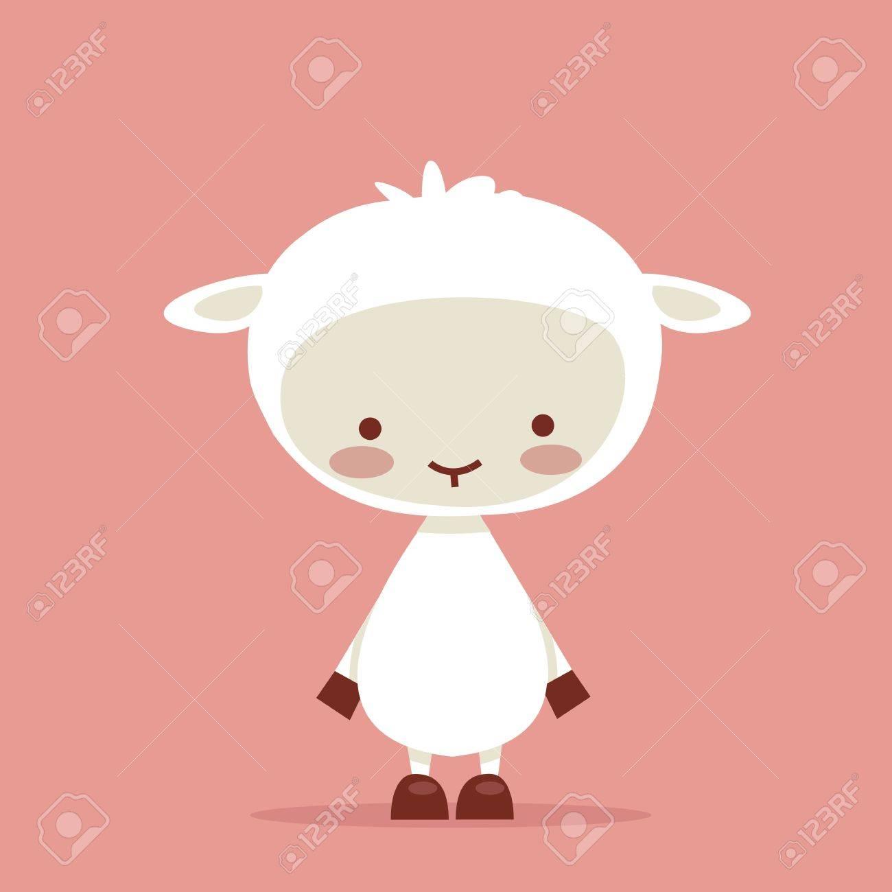 Cute lamb character, vector illustration Stock Vector - 9294269