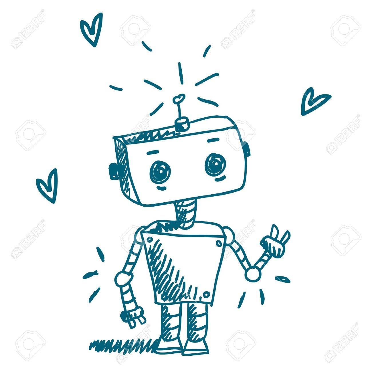Cute Robot Doodles Robot Cute Sketch
