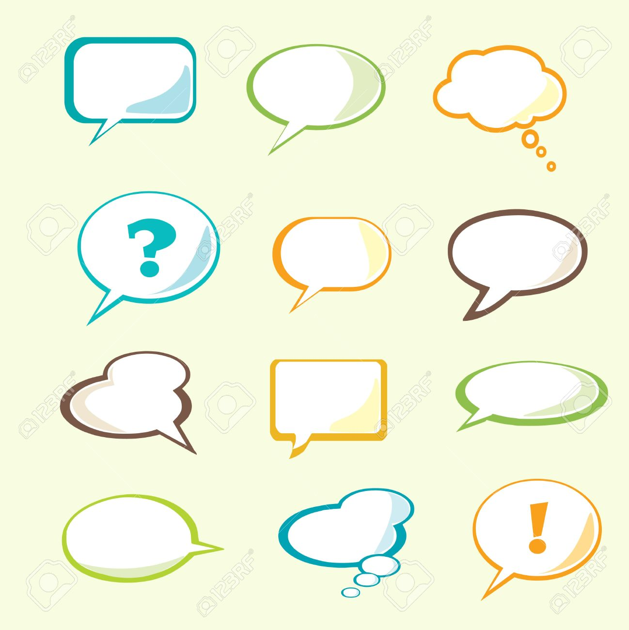 set of vector speech bubble with space for your text royalty free rh 123rf com free vector speech bubble download free vector cartoon speech bubbles