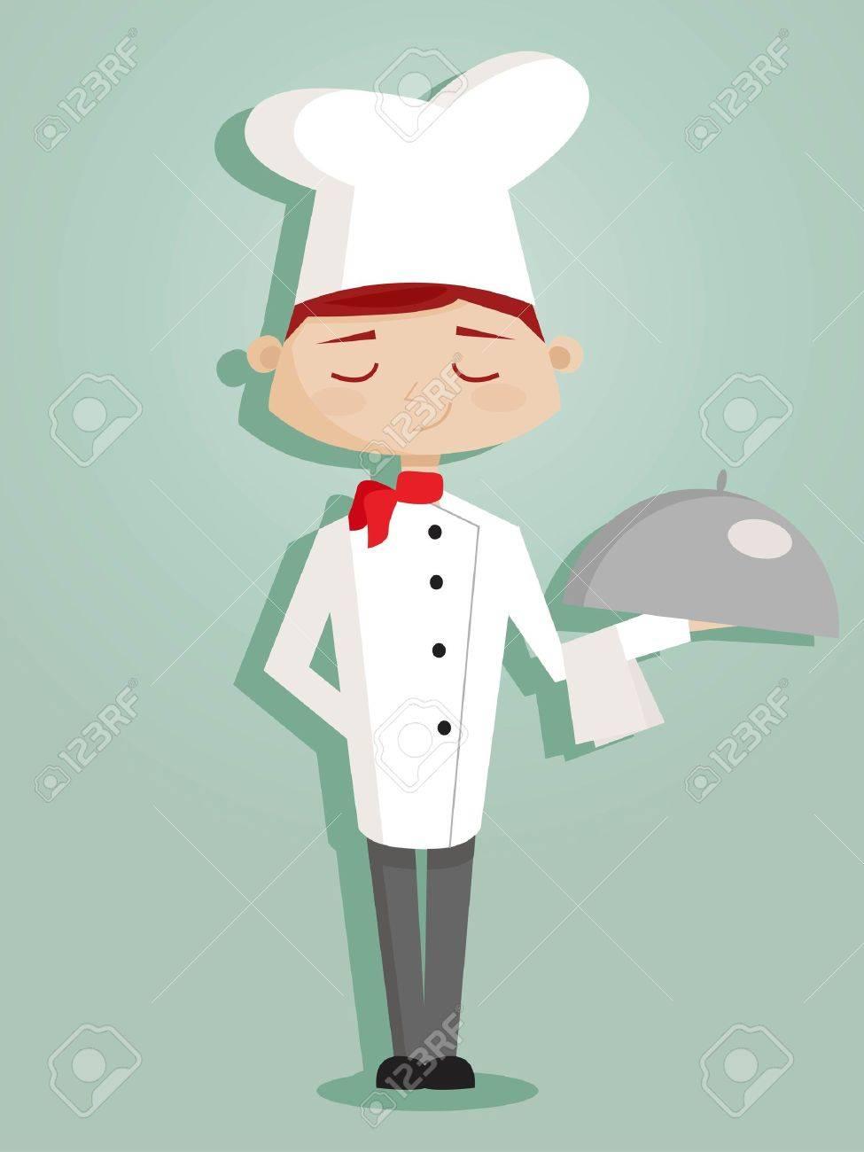 Retro cartoon chef Stock Vector - 9445425