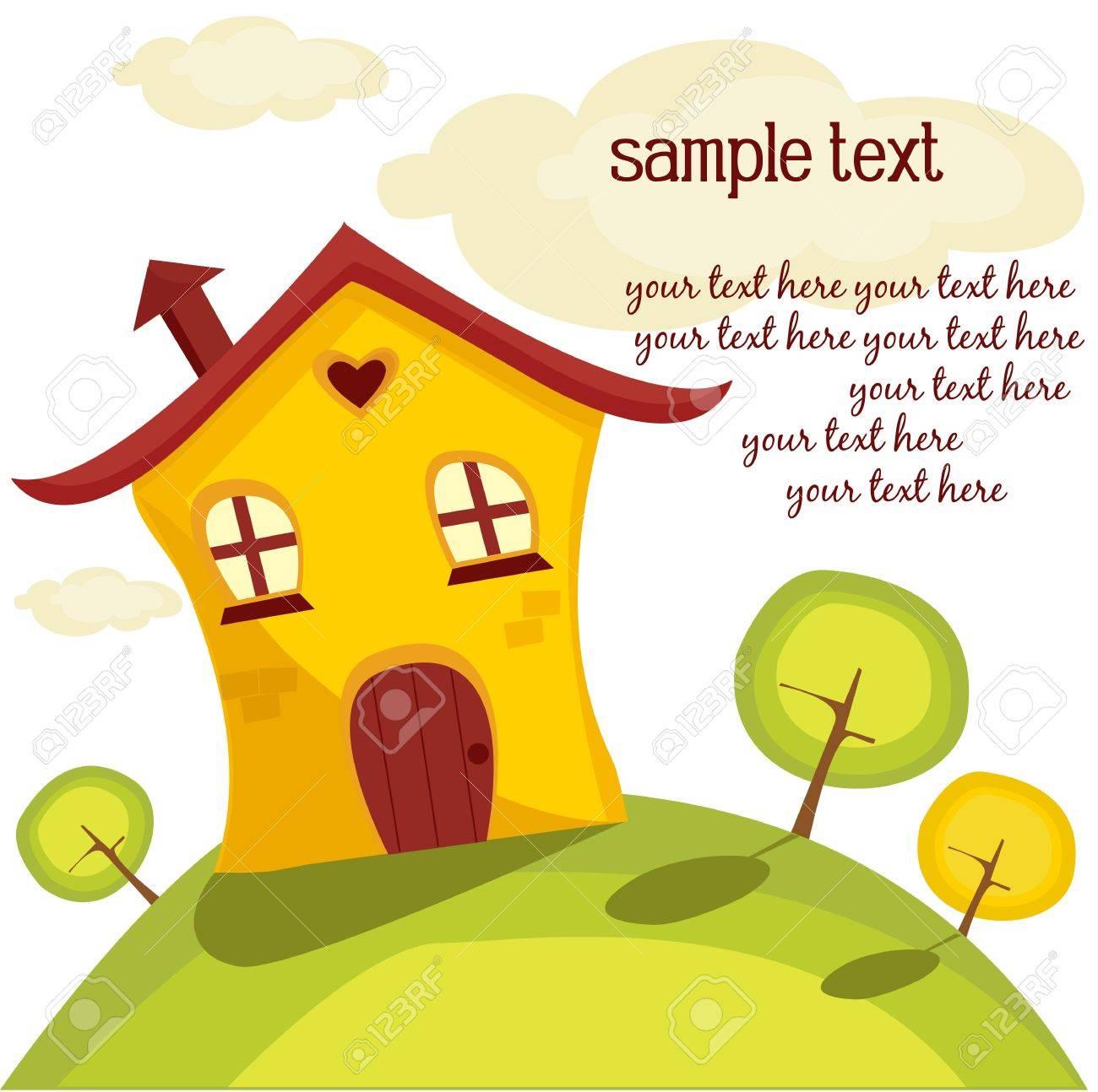 Cute House, Vector Illustration Royalty Free Cliparts, Vectors ...