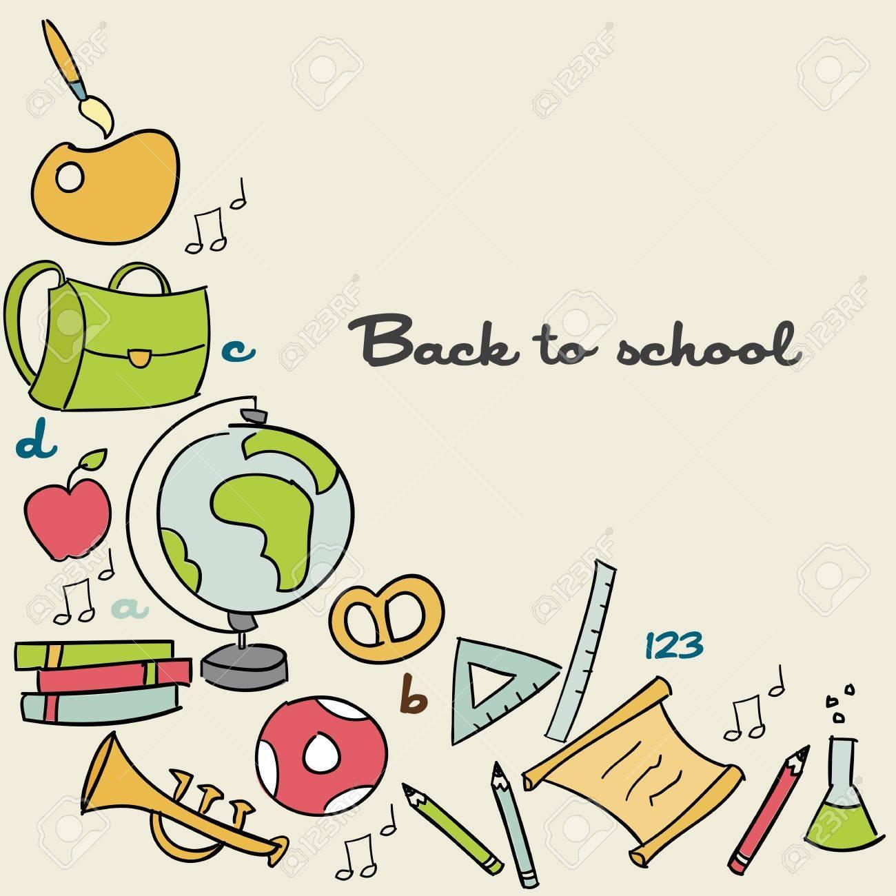 School bag diagram - School Bag Back To School Background Vector Illustration