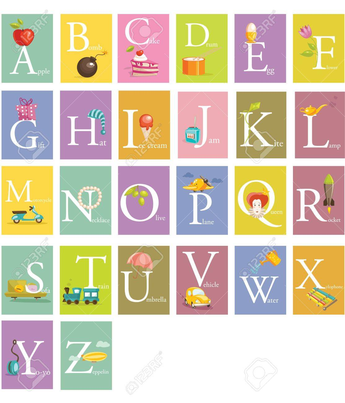 colorful abc letters illustration stock vector 10857051