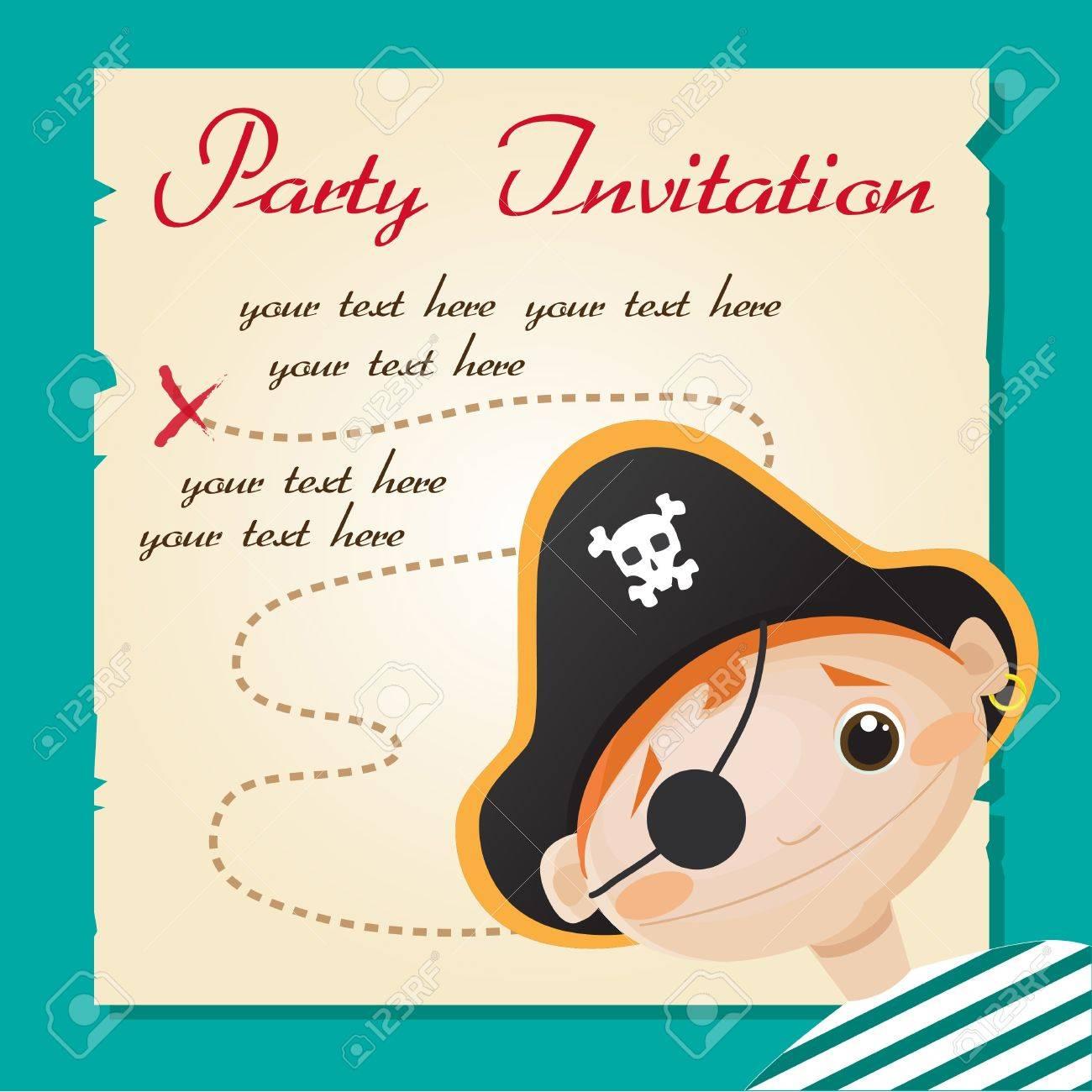 Pirate Party Invitation Vector Illustration Royalty Free Cliparts – Pirate Party Invitation