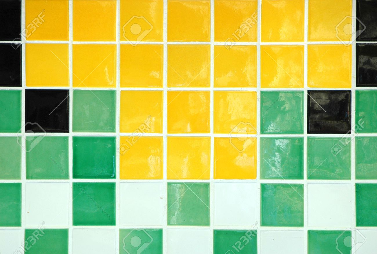 Old ceramic tile in green yellow white and black stock photo old ceramic tile in green yellow white and black stock photo 600148 dailygadgetfo Choice Image