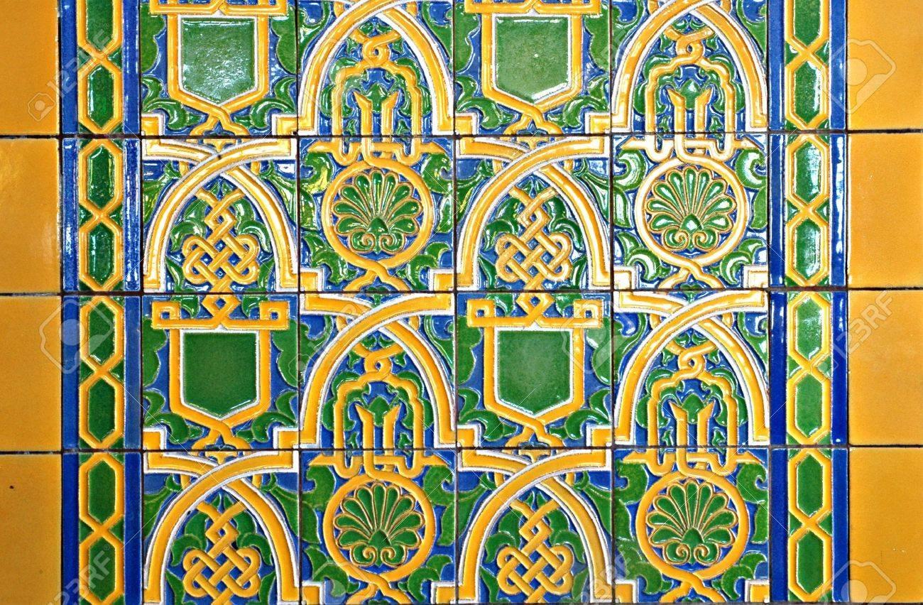 Art deco style ceramic tile Stock Photo - 599774