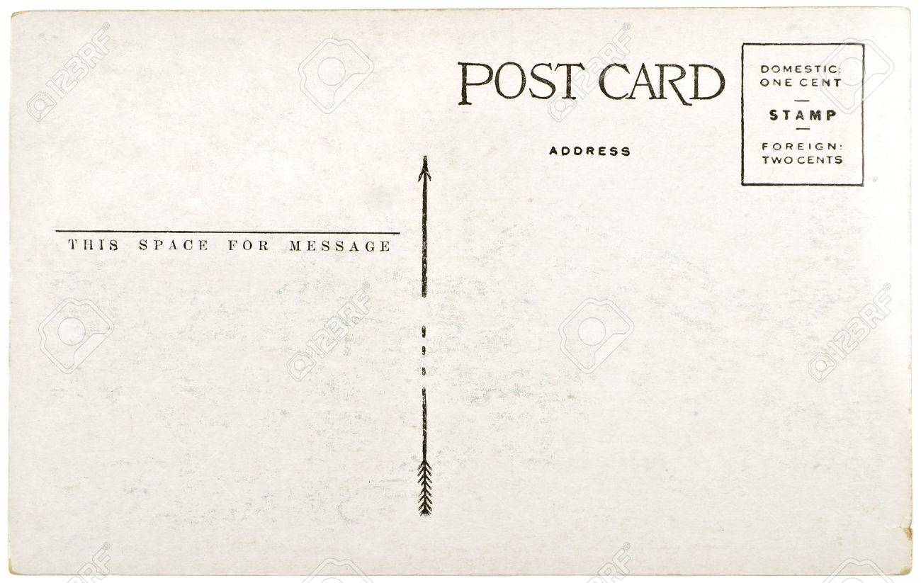 Black And White Postcard From >> Blank Vintage Postcard From Mid 1900s With Copyspace Stock Photo