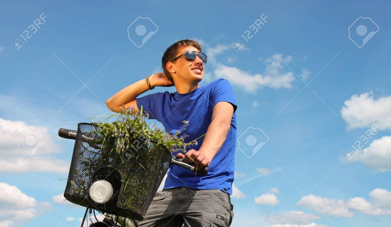 Man riding bike Stock Photo - 7221108