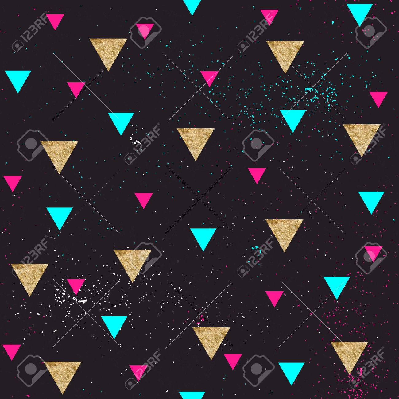 Geometric Abstract Art Triangles