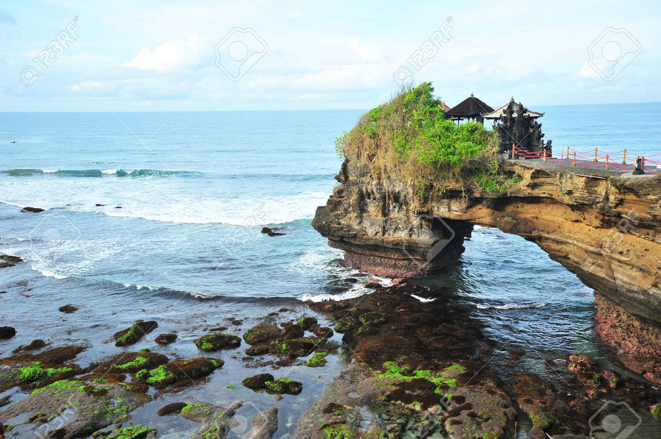 Tanah Lot Temple At Bali Island Indonesia Stock Photo Picture And