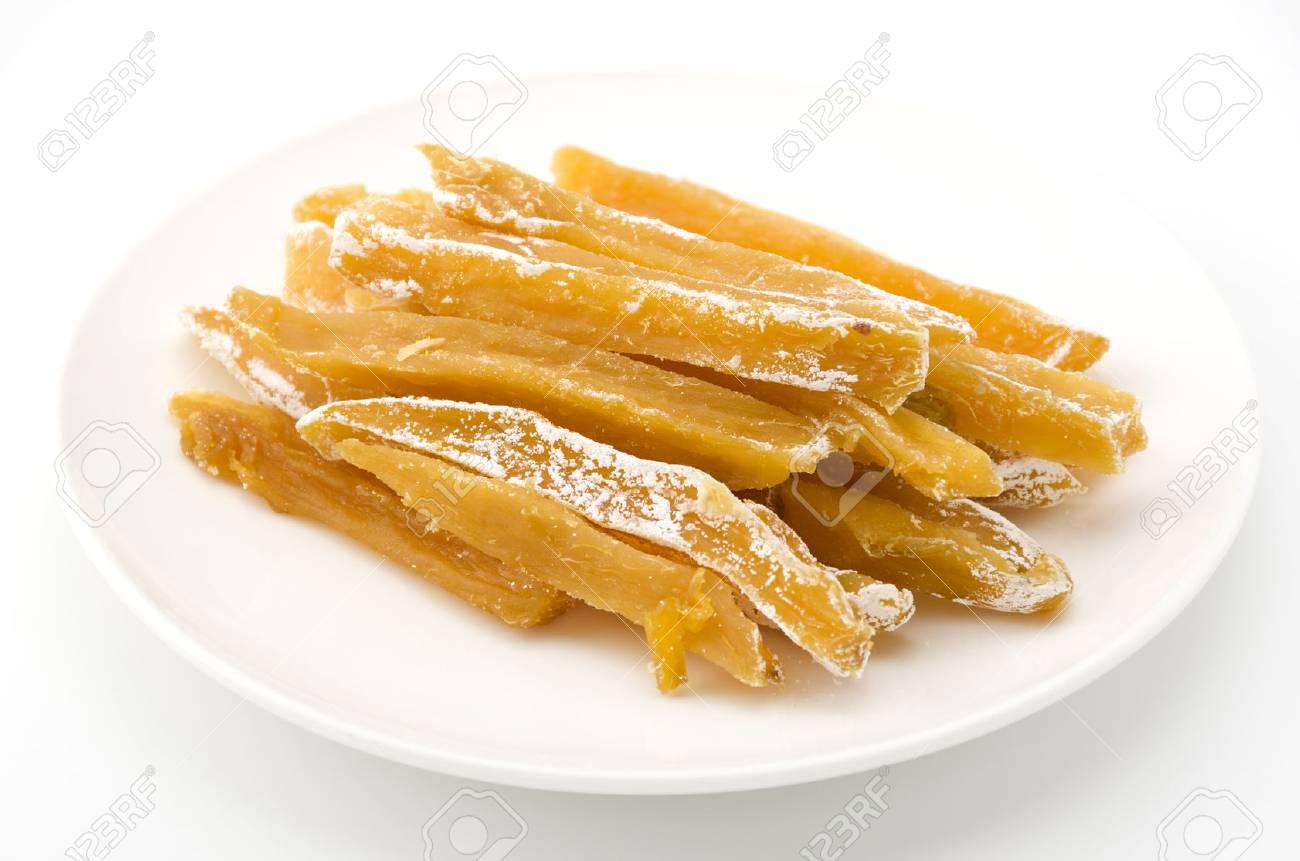 dried sweet potato satsuma sweet potato steamed, sliced and dried - 83225128
