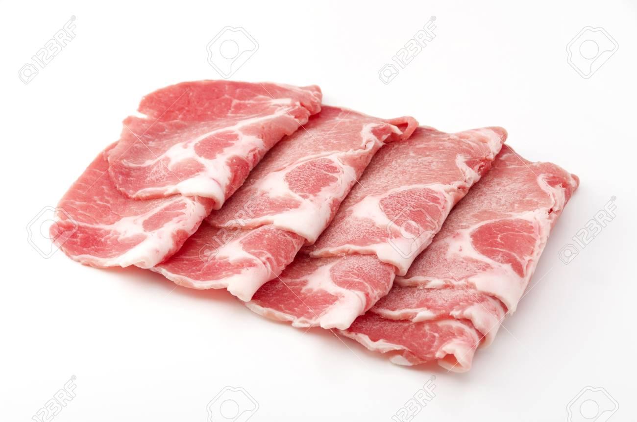pork boston butt thinly sliced - 83416321