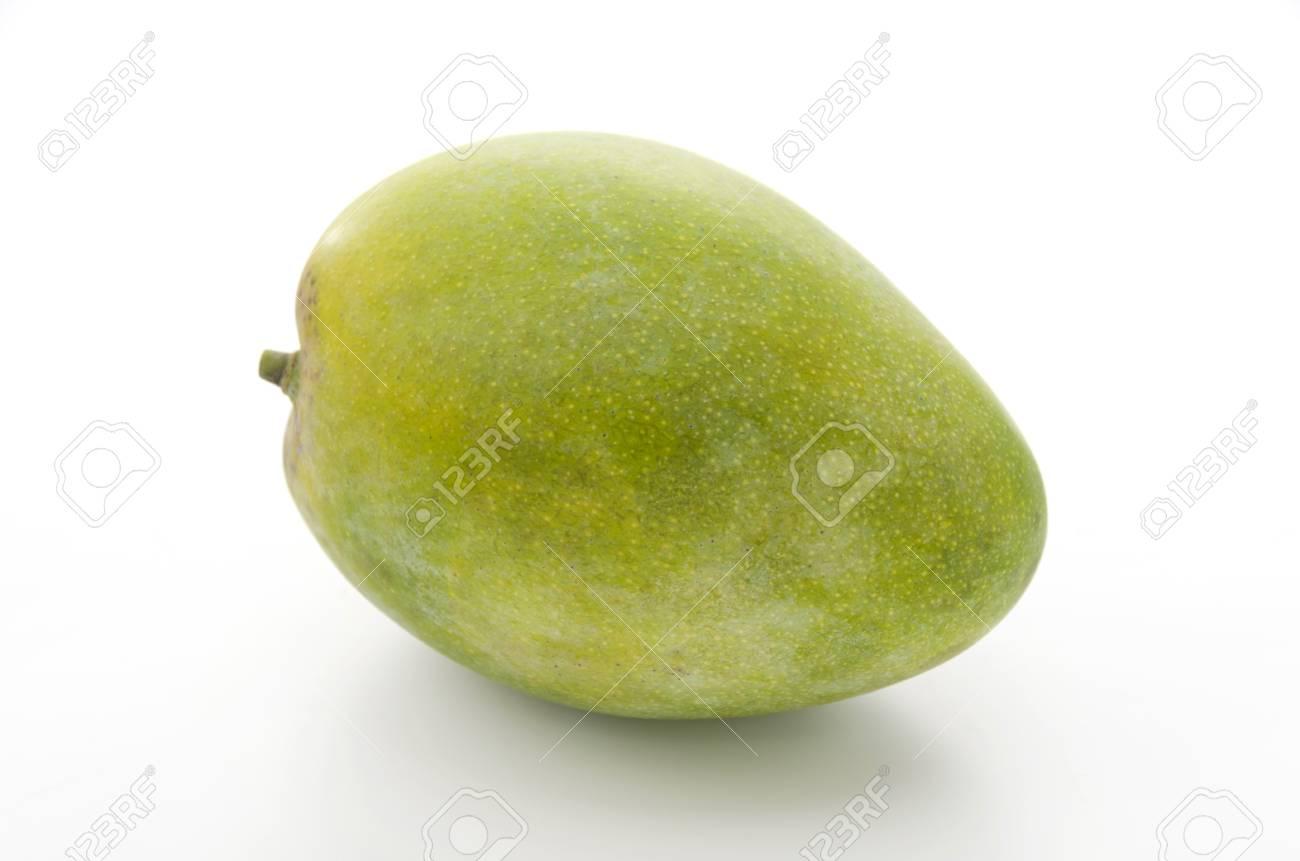 Fresh keats mango on a white background - 84195083