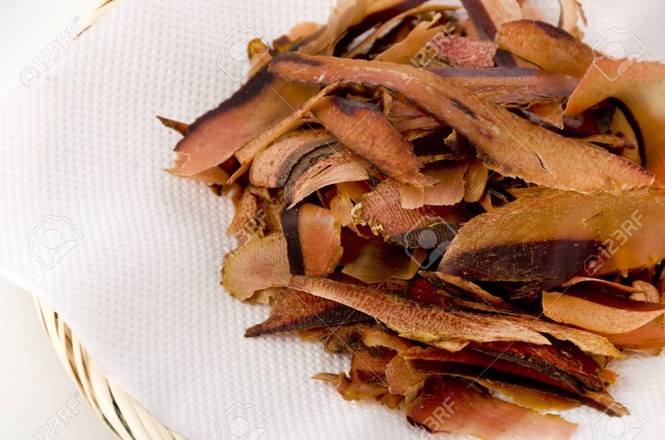 Katsuobushi, dried bonito flakes, Japanese food - 129571176