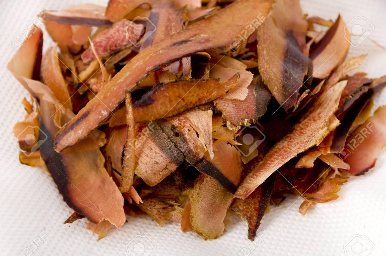 Katsuobushi, dried bonito flakes, Japanese food - 129571178