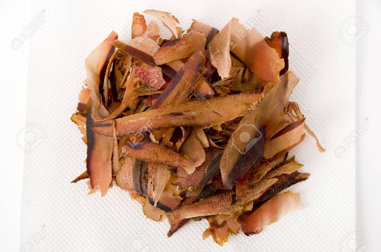 Katsuobushi, dried bonito flakes, Japanese food - 129571219