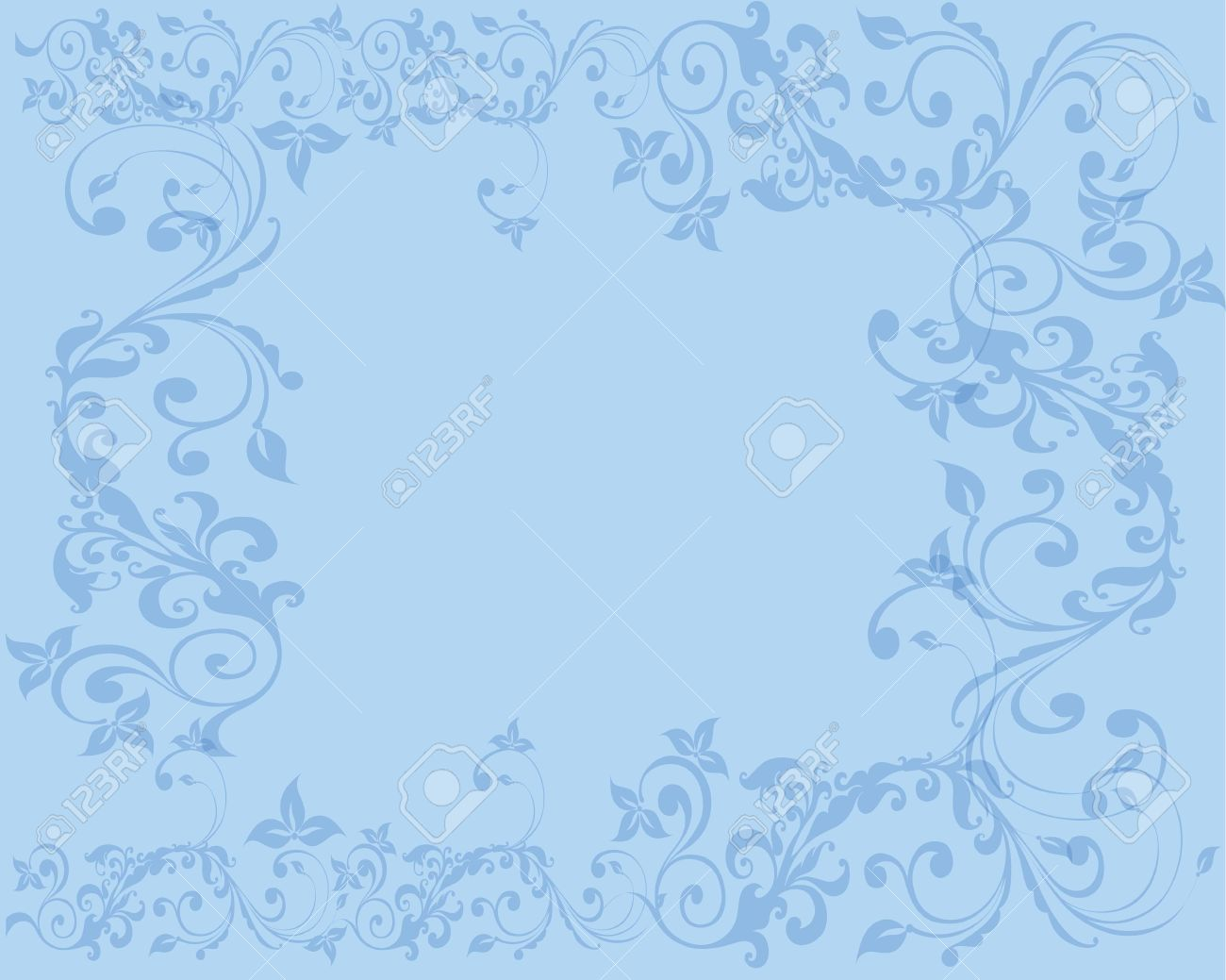Simple And Clean Abstract Light Blue Floral Background Royalty