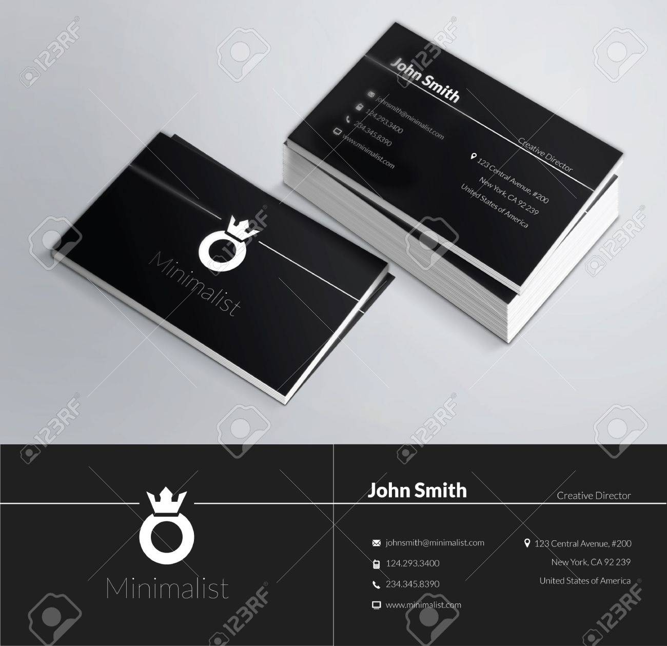 This Is A Modern, Clean And Elegant 2 Sided Business Card. Perfect ...