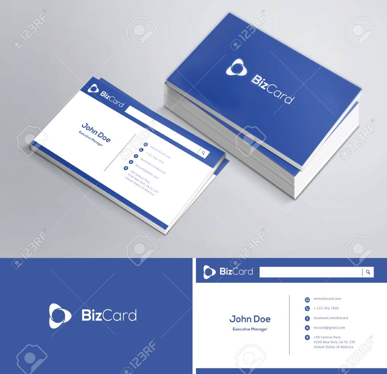 This Is A Modern, Clean And Elegant 2 Sided Business Card Royalty ...