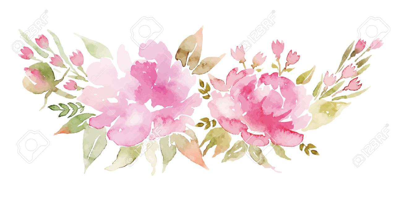Watercolor flowers peonies handmade greeting cards spring handmade greeting cards spring composition stock vector 38364842 kristyandbryce Image collections
