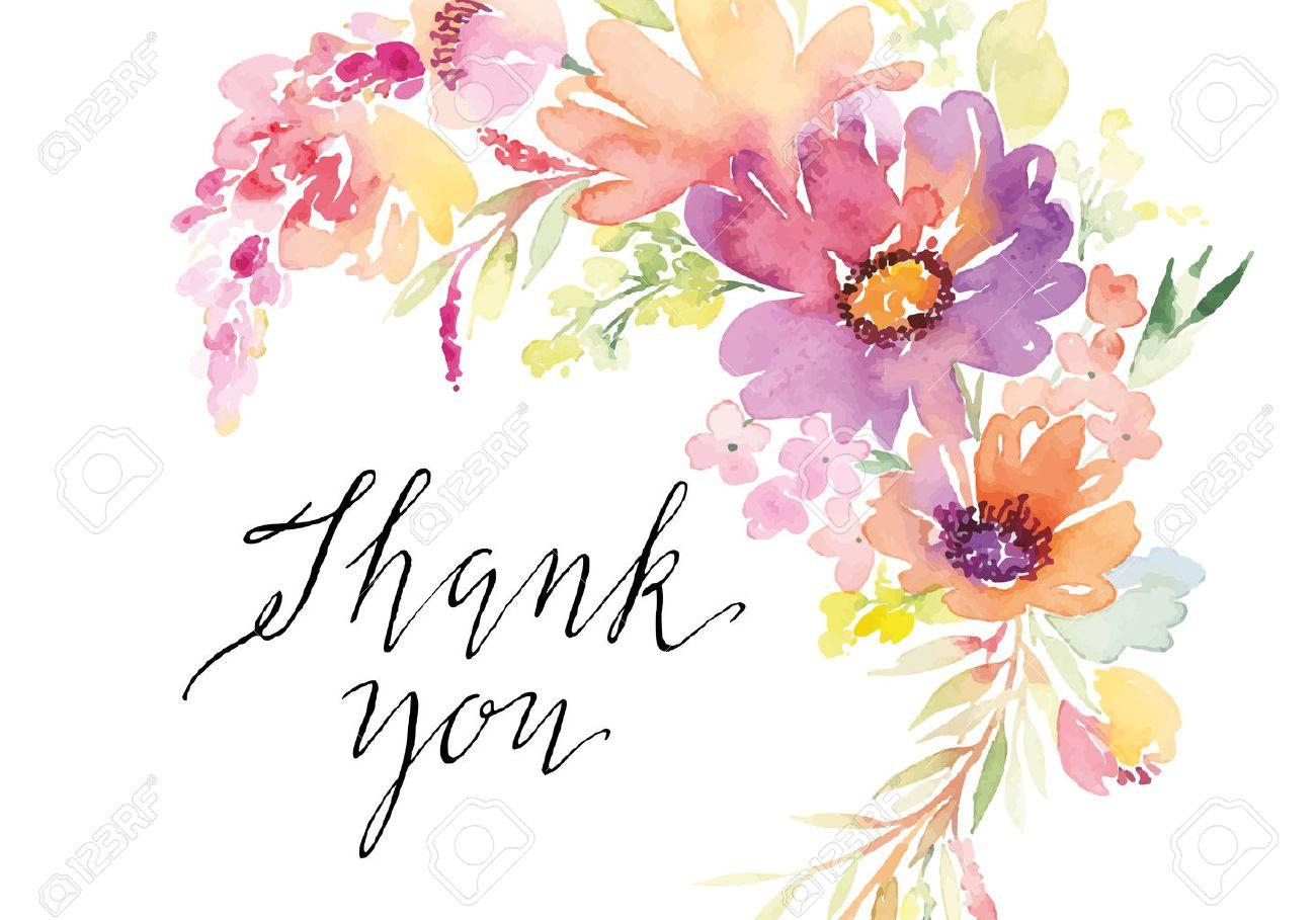 Watercolor greeting card flowers. Handmade. - 42524154