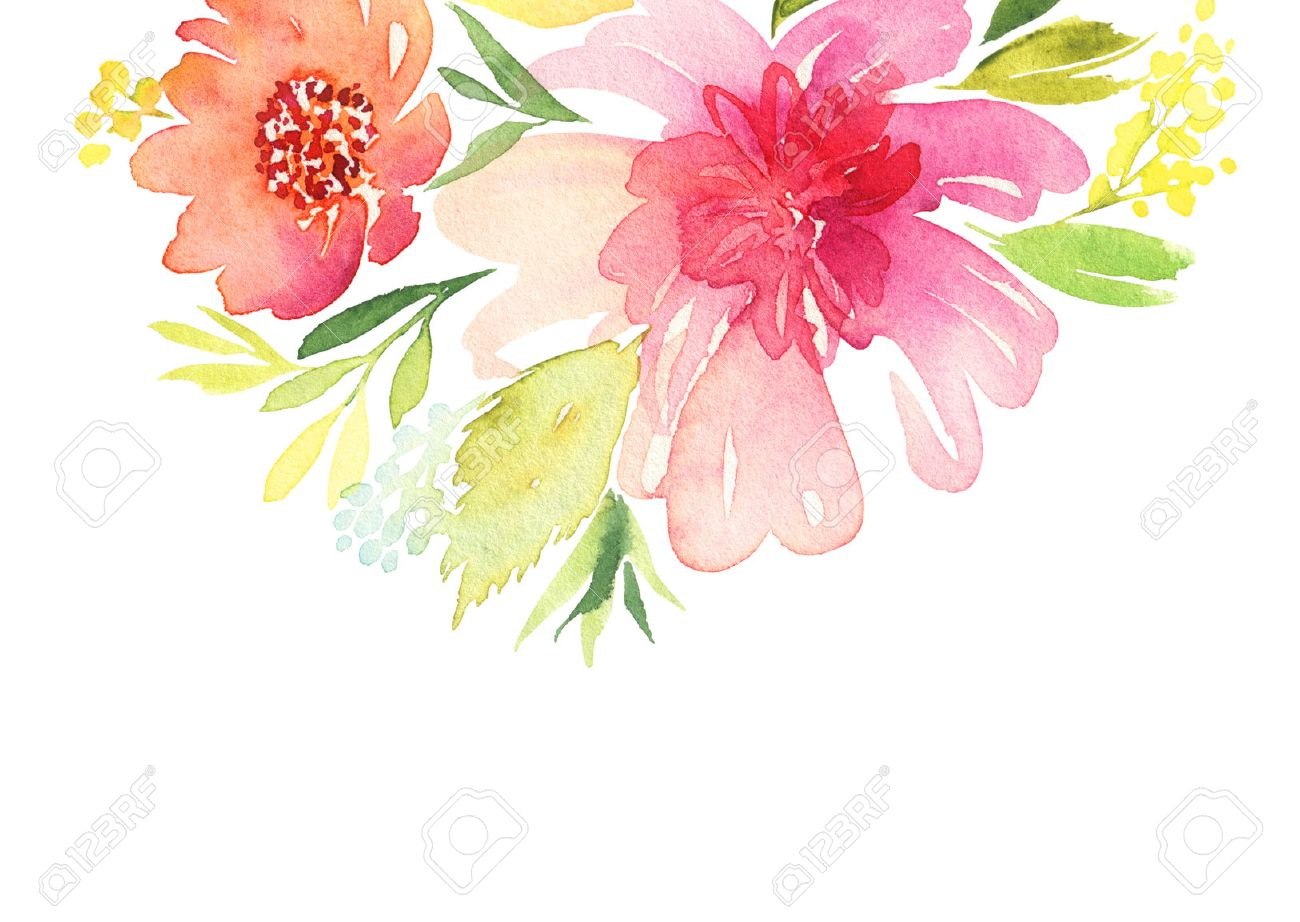 Greeting card watercolor flowers background stock photo picture greeting card watercolor flowers background stock photo 45715115 m4hsunfo
