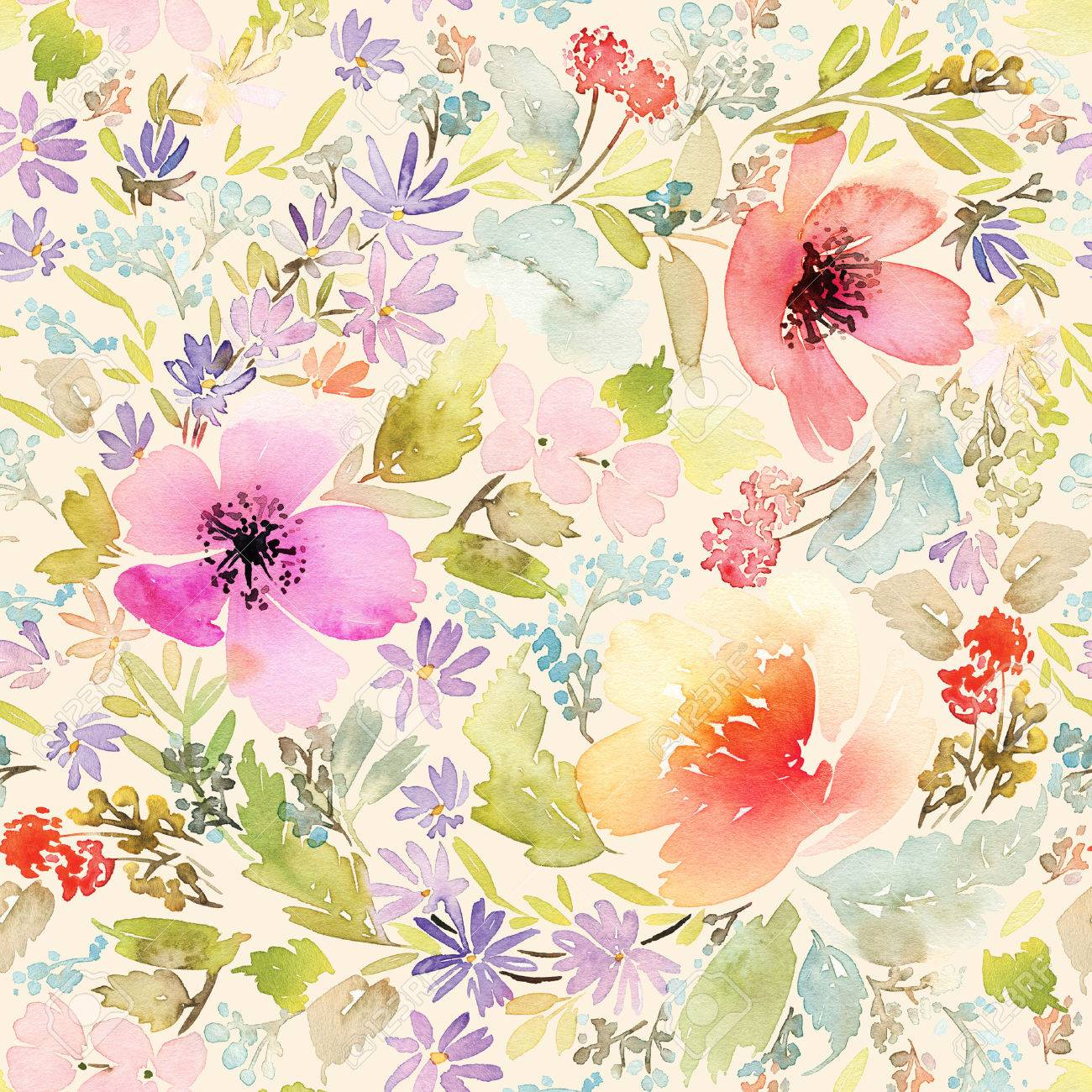 Seamless spring pattern watercolor painting well suited for flowers seamless spring pattern watercolor painting well suited for the wrapping paper and tissue mightylinksfo