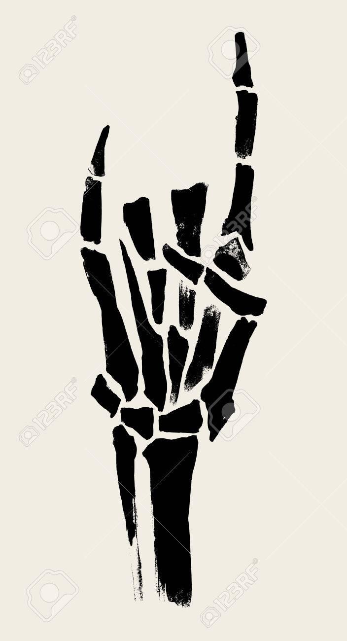 Esqueleto Ilustración Manos Para Imprimir En Los Carteles, De Las ...