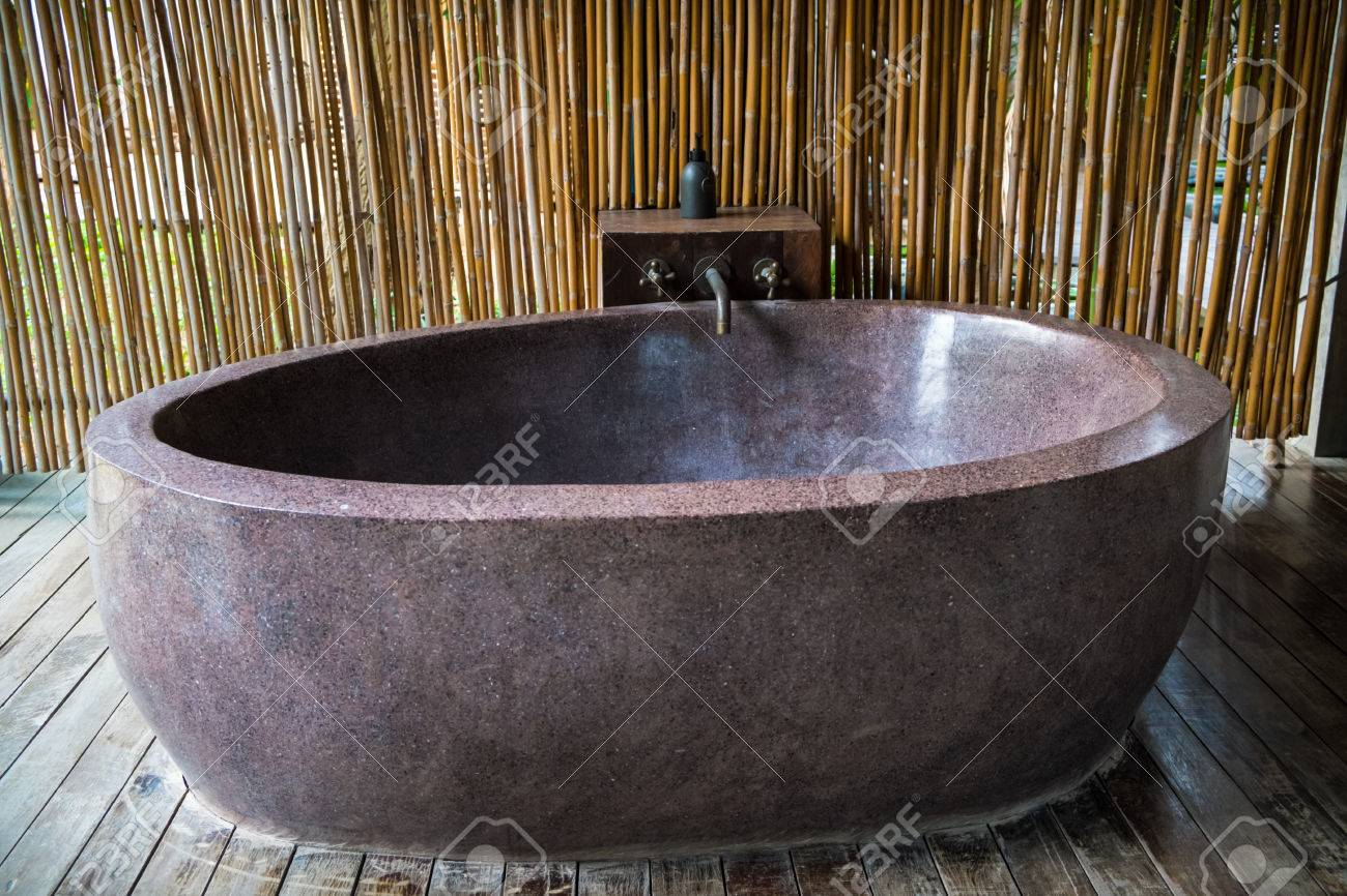 Outdoor Stone Bathtub Stock Photo, Picture And Royalty Free Image ...