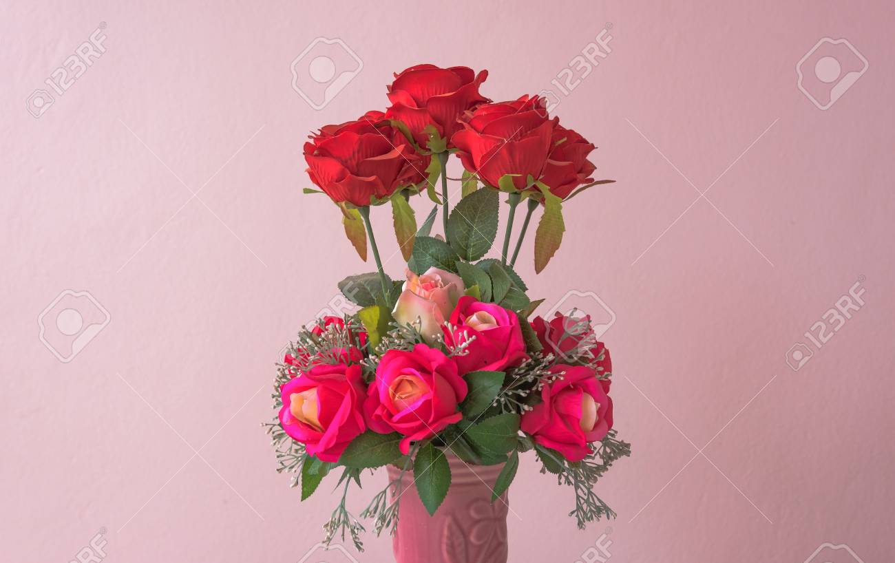 Beautiful fake flower in pink background vintage color stock photo beautiful fake flower in pink background vintage color stock photo 51460223 izmirmasajfo Choice Image