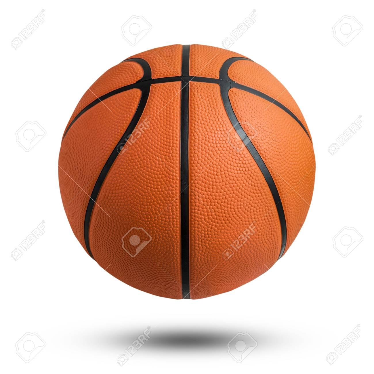 Basketball Ball Over White Background Basketball Isolated Orange