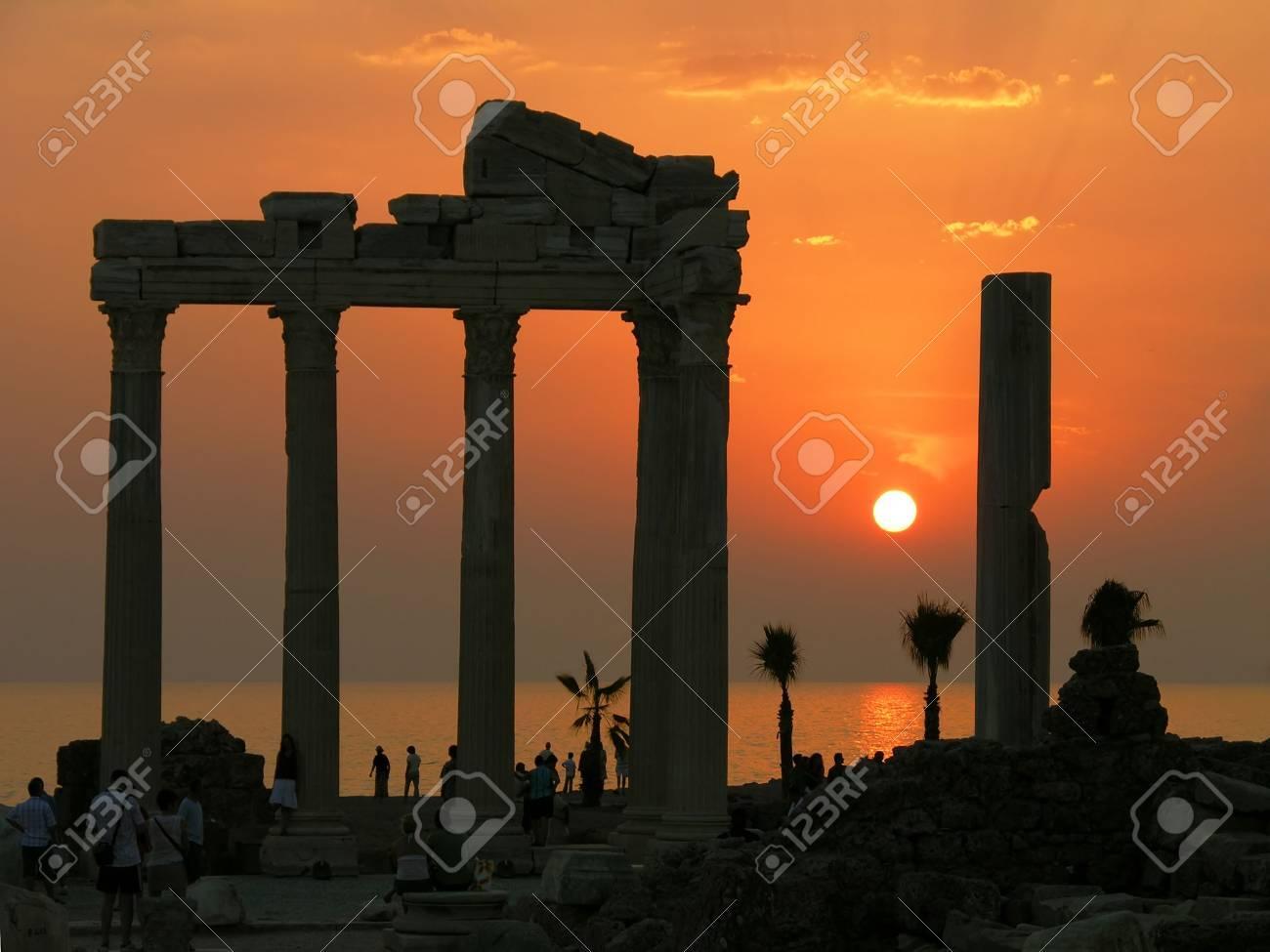 Temple of Apollo at sunset, Side, Turkey Stock Photo - 6513186