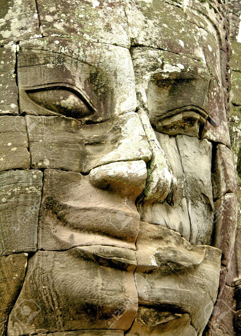 Face of Bayon temple, Angkor, Cambodia Stock Photo - 8732298