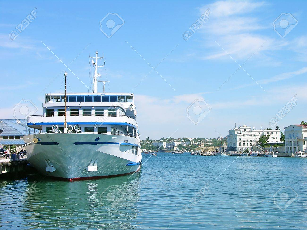 Cruise liner in Sevastopol harbor Stock Photo - 13941784