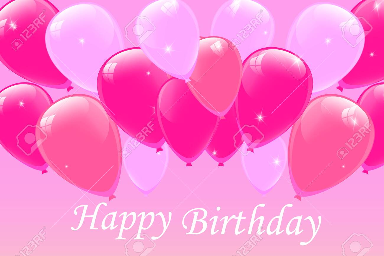 Happy Birthday typography vector design for greeting cards and poster with  balloon, confetti, design template for birthday celebration.