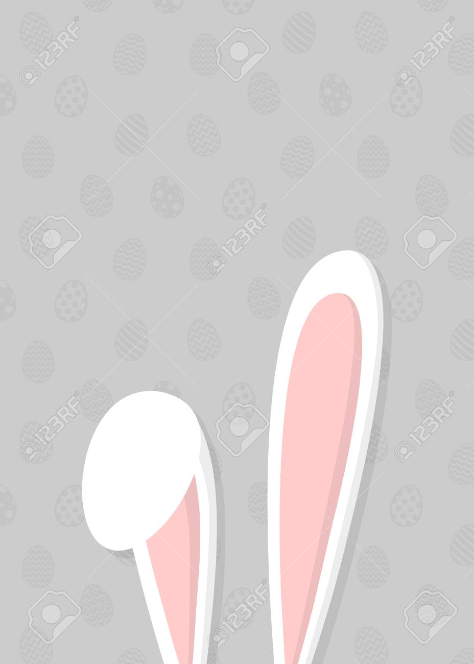 Easter Template Of A Poster With Bunny Ears Vector Royalty Free