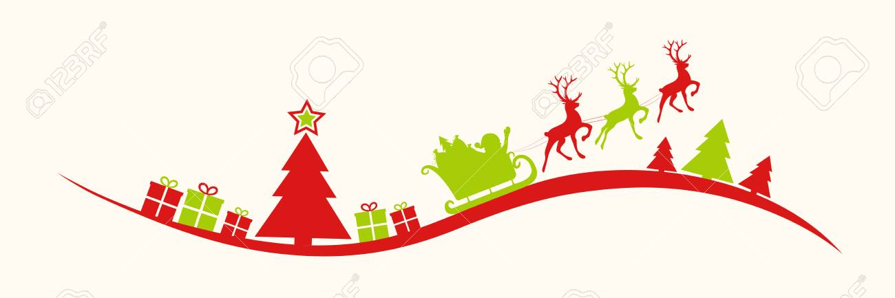 Christmas Header Clipart.Panoramic Header With Christmas Decoration Vector