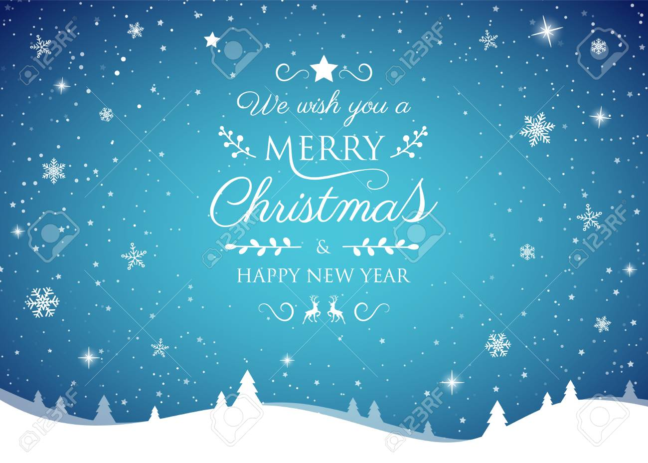 Concept of Christmas card with shiny snowflakes. Vector. - 126991590