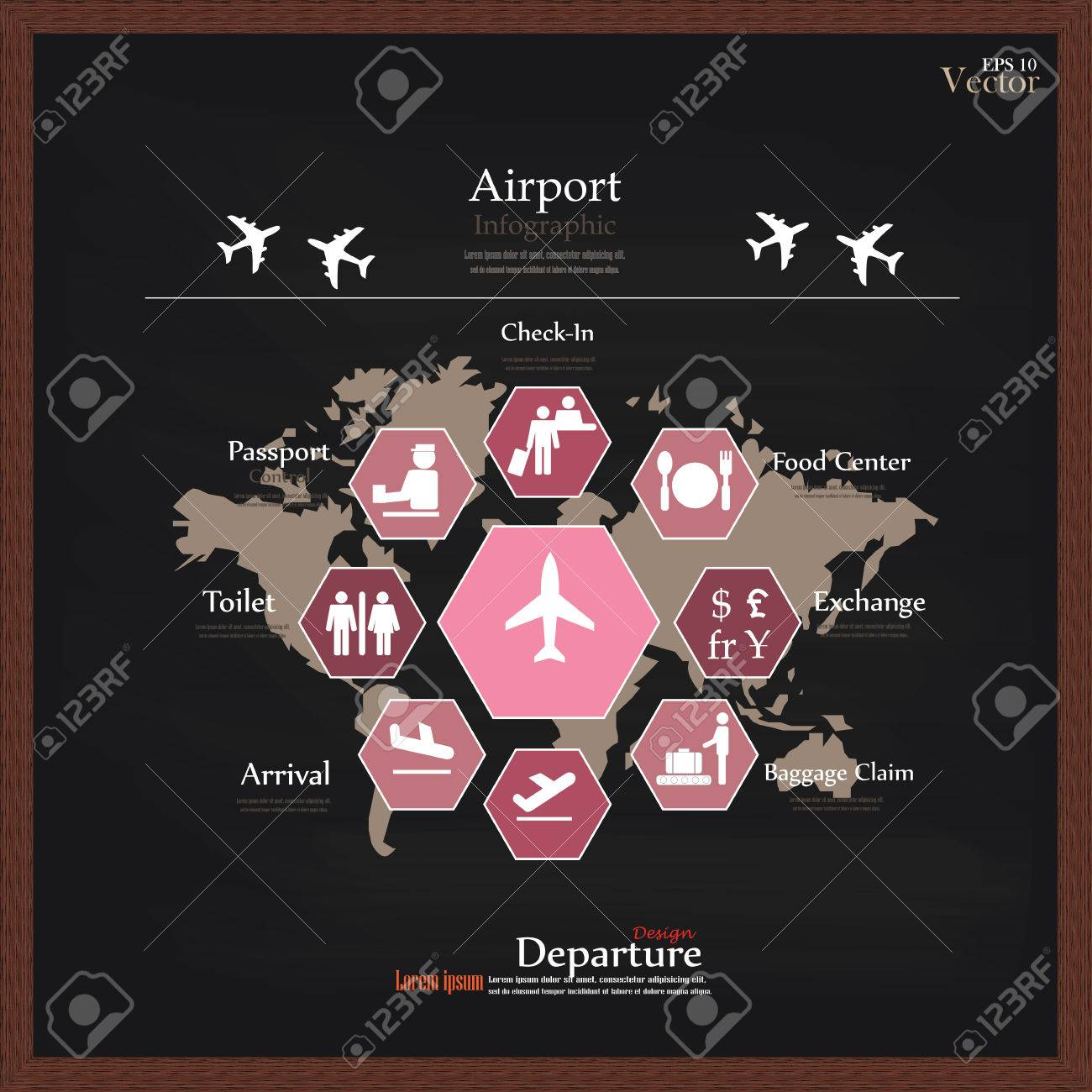 Airport business infographic presentation template concept design airport business infographic presentation template concept design on world map and airport service iconsrport gumiabroncs Gallery