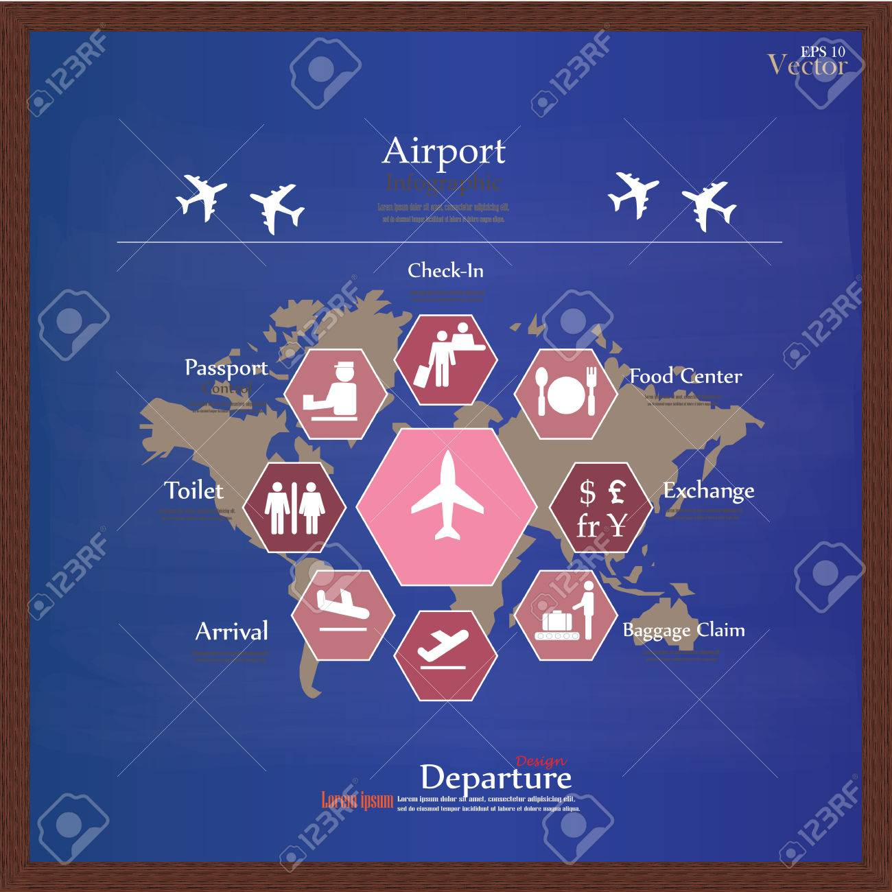 Airport business infographic presentation template concept design airport business infographic presentation template concept design on world map and airport service iconsrport gumiabroncs Choice Image