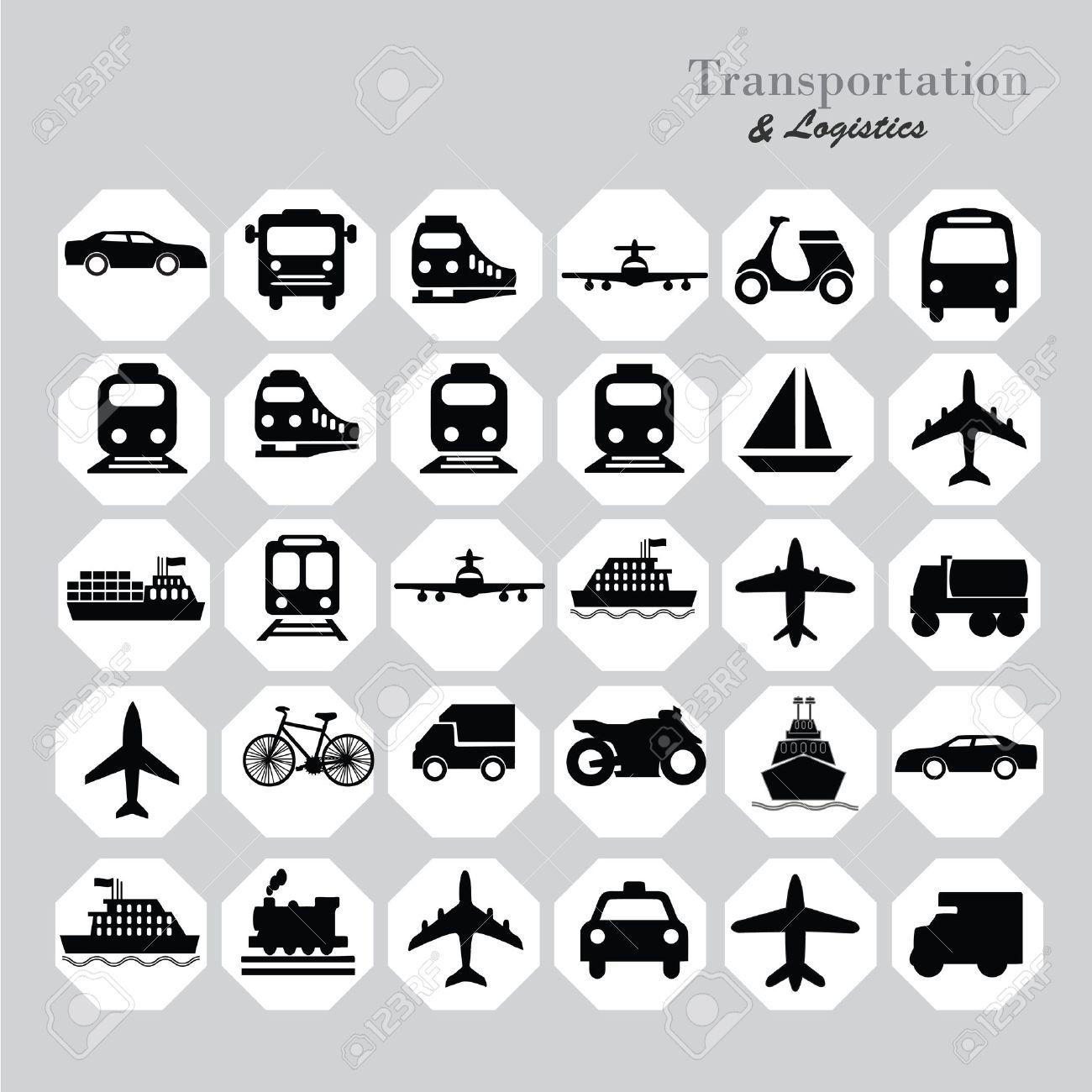 Transport icons.transportation .logistics.logistic icon.vector illustration. - 43527904